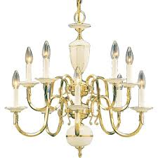 volume lighting 10 light polished solid brass chandelier