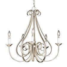 kichler lighting dover 5 light brushed nickel chandelier at com