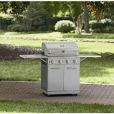 kenmore 6 burner gas grill. kenmore stainless steel 4 burner gas grill with folding side shelves and lit knobs 6
