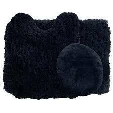 5 piece bathroom rug set black 5 piece scroll bath rug set