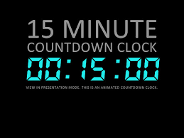 5 Minute Powerpoint Timer 15 Minute Digital Countdown Clock Presentation By Deckologie