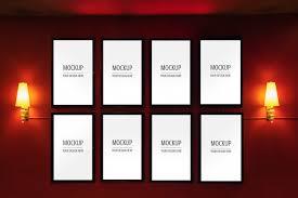 Mockup Of Display Frame Movie Poster Cinema Light Box Psd