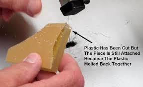 the biggest problem is having the saw blade melt the plastic instead of cutting it cleanly this can be identified when you notice a lack of cuttings