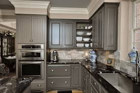 painted gray kitchen cabinetsContemporary And Simple Grey Fascinating Grey Painted Kitchen