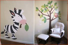 modern nursery wall animals painted decals paint contemporary design decor  on baby room wall art painting with project nursery a painting party weekend pepper design blog