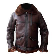 men aviator b3 er leather jacket men sheepskin b3 er leather jacket