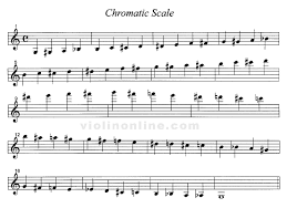 Trumpet Chromatic Scale Chart Chromatic Scale Violin Scales Violin Violin Sheet