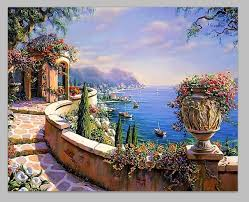 frameless painting by numbers paint by number for home decor pbn for living room 4050 greece