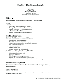 Sample Resume Of Data Entry Clerk Data Entry Clerk Resume Sample