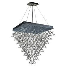 crystal pendant chandelier modern contemporary light crystal ball prism pendant chandelier large square shape x