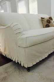custom slipcovers by sey cream duck cloth couch