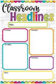 Date Chart For Classroom Diy Dots Classroom Headlines Chart Magnetic
