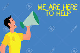 Word Writing Text We Are Here To Help Business Concept For Someone