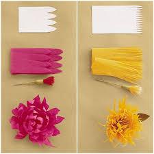 Martha Stewart Paper Flower Diy Crepe Paper Flowers Via Martha Stewart