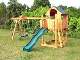 wooden swing sets under metal gorilla outdoor playsets costco childrens kitchen out