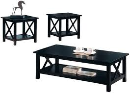 black wood coffee table set steal a sofa furniture outlet los sets with stora