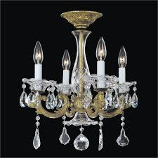 english manor glow wrought iron crystal semi flush mount 546ac4lag 3c