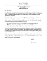 best assistant manager cover letter examples  livecareer assistant manager cover letterclassic 1 design