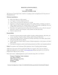 Welder Resume Sample Accounting Associate Cover Letter