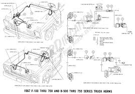 ford truck technical drawings and schematics section h wiring 1967 f 100 thru f 750 b 500 thru 750 horn