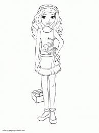 Awesome Lego Friends Olivia Coloring Pages Teachinrochestercom