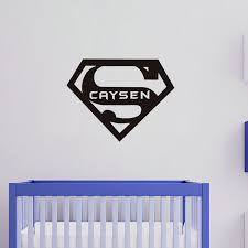 Small Picture Any Name With Superhero Logo Kids Wall Sticker Home Decor
