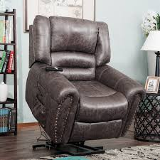 amazon harper bright designs wilshire series power lift recliner chair with heavy duty lifting mechanism and 2 castors for easily move brown kitchen