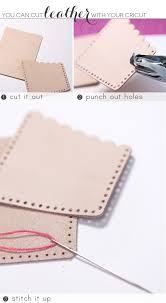 recycled leather idea diy stylish gold leather office supplies with cricut explore damask love