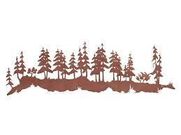 57 wild pine tree forest metal wall art on pine tree forest metal wall art with 57 wild pine tree forest metal wall art nature wall decor