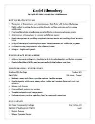 Resume For A Bank Teller Banking Resume Format Doc For Bank Teller Examples Sample Entry