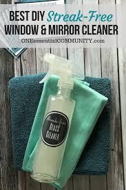 best diy streak free window mirror cleaner with essential oil