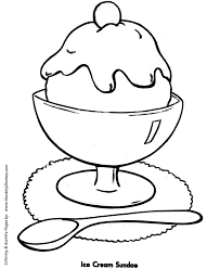 Small Picture Easy Shapes Coloring Pages Free Printable Ice Cream Sundae Easy