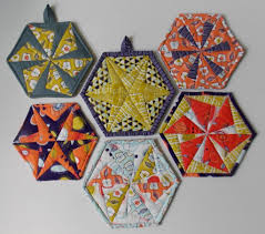 Hexagon Quilt Pattern for Trivets, Coasters and Potholders ... & Hexagon Quilt Pattern for Trivets, Coasters and Potholders Adamdwight.com