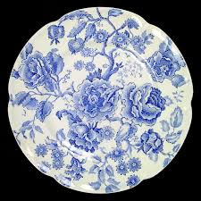 Johnson Brothers ENGLISH CHIPPENDALE-BLUE Dinner Plate 276026 ...