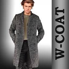 wool blend herringbone pattern double coat tight monon coat outerwear mens coat tweed coat men coat