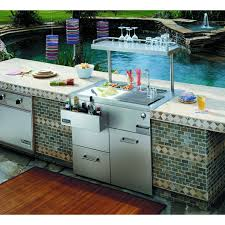 Outdoor Kitchen Sink Station Viking Vrsb410ss 41 Inch Built In Stainless Steel Outdoor