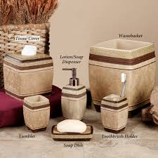 Southwest Bathroom Decor Ideas Bathroom Decor Glass Canisters Set Accessories Cubtab
