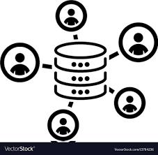 Collecting Data Icon Flat Design