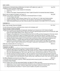 Mba Resume Template Department Resume Free Template London Business
