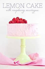 Lemon Cake With Raspberry Meringue Sprinkles For Breakfast