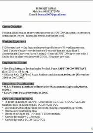 Sap Bi Sample Resume For 2 Years Experience