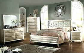 New Silver Bedroom Furniture Mirrored Headboard Mirror Headboard And ...