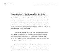 edgar allan poe s the masque of the red death  document image preview