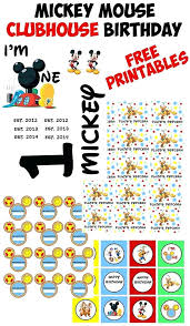 Mickey Mouse Party Printables Free Free Mickey Mouse Clubhouse Printables Mickey Mouse Party Welcome