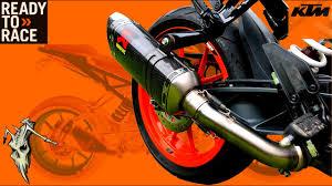Akrapovic <b>Slip</b> On Exhaust Install <b>KTM</b> 390 <b>125</b> 250 <b>Duke</b> - YouTube