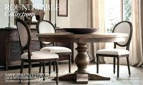 restoration hardware round table dining st room chair covers hardw
