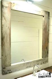 wooden frame bathroom mirror rustic mirrors funky for size of wood pertaining to vanity si