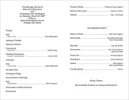Free Printable Wedding Ceremony Programs Programs For Wedding Ceremony Template Toptier Business