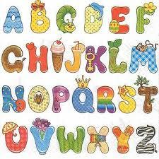 Letters In Design 4 Single Paper Decoupage Napkins Alphabet Letters Kids Design 243 Ebay