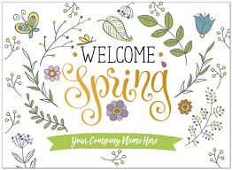 Spring Photo Cards Happy Spring Name Card Company Name Greeting Cards Posty